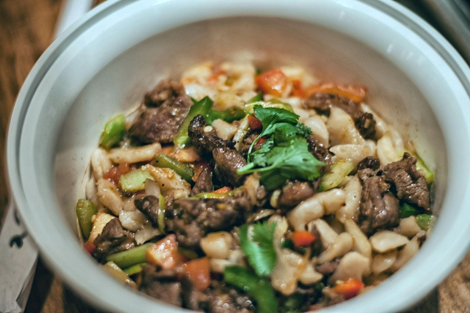 famous Handpulled Noodle Spicy Cumin Lamb Stir Fry with Ding Ding Noodles
