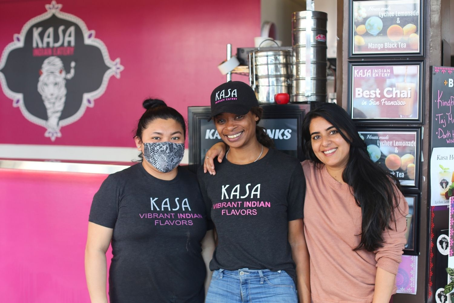 Kasa Indian Eatery employees with owner Anamika Khanna
